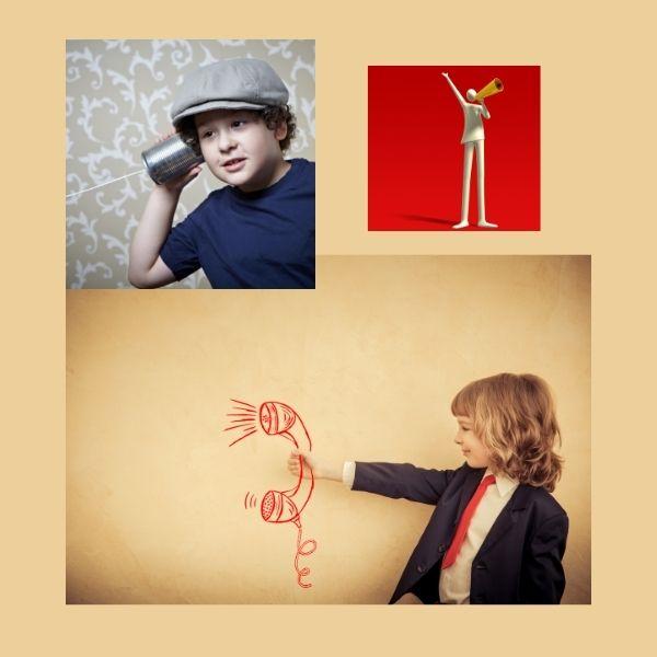 Comunicarse, un niño escucha a una niña